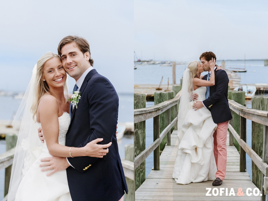 zofia and company photography, nantucket yacht club wedding