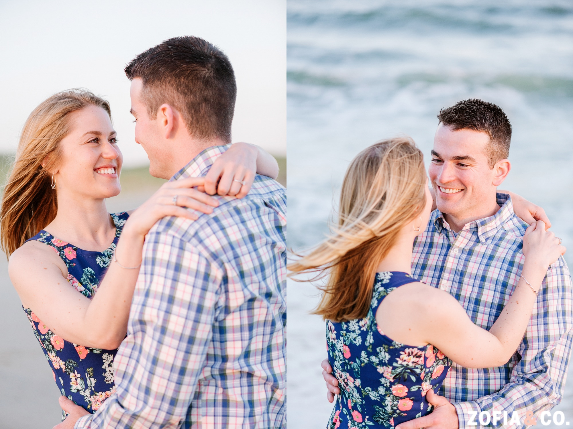 Nantucket engagement session by Zofia & Co.