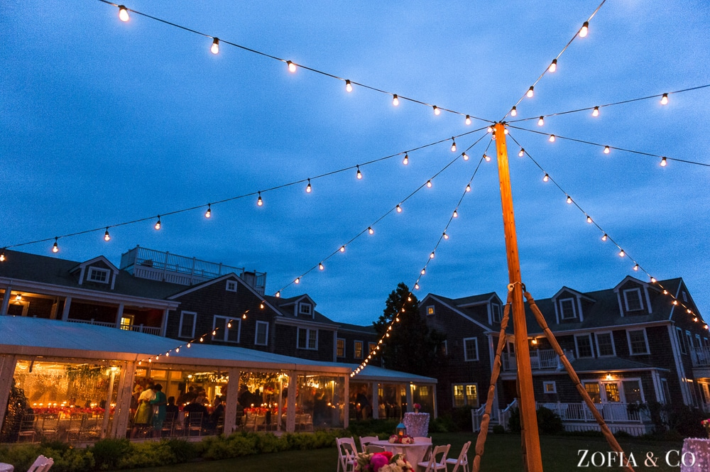 Nantucket wedding photography at the White Elephant by Zofia and Co.