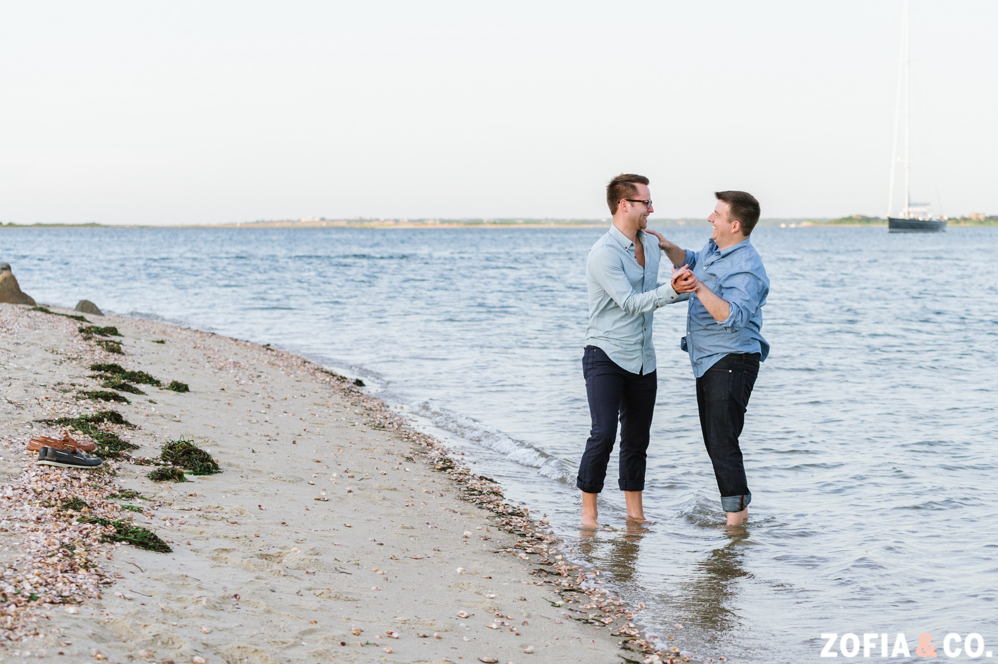 same sex nantucket wedding photography nantucket engagement session by Zofia & Co.