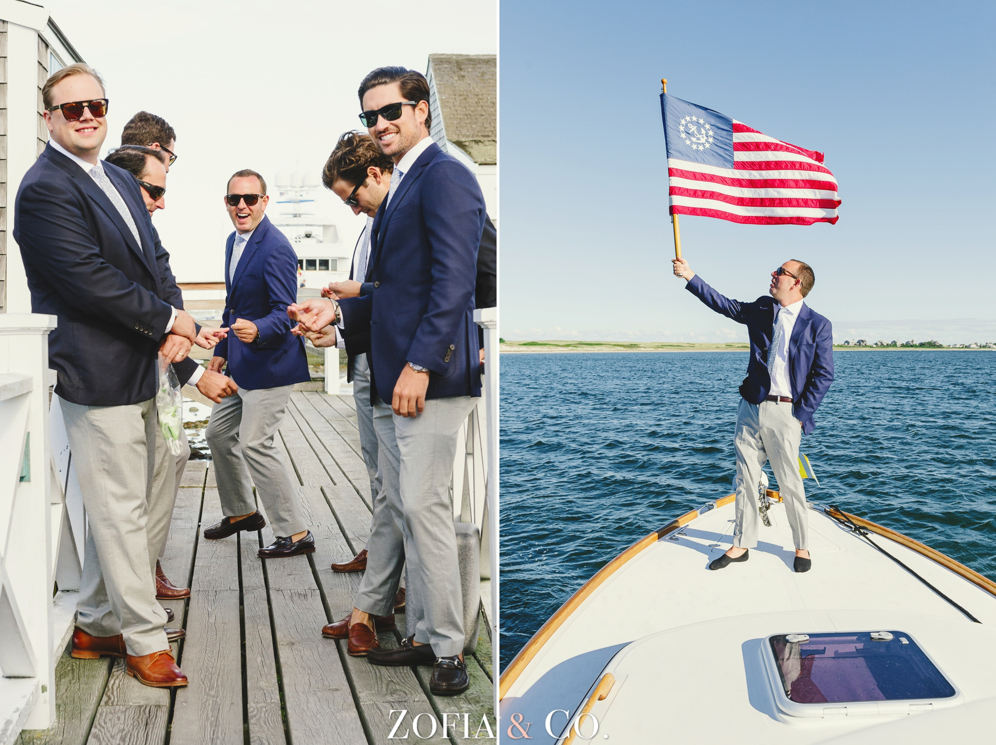 Nantucket wedding at the Wauwinet by Zofia and Co. with Barton and Gray boat, clear tent reception