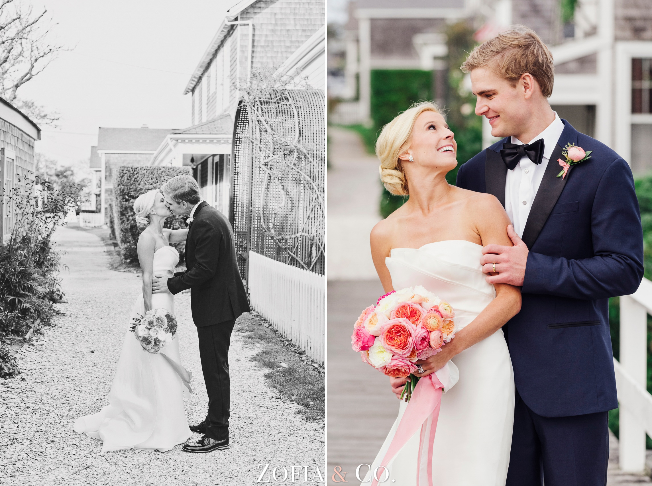 Nantucket wedding at Sconset Chapel and Galley Beach by Zofia and Co. Photography