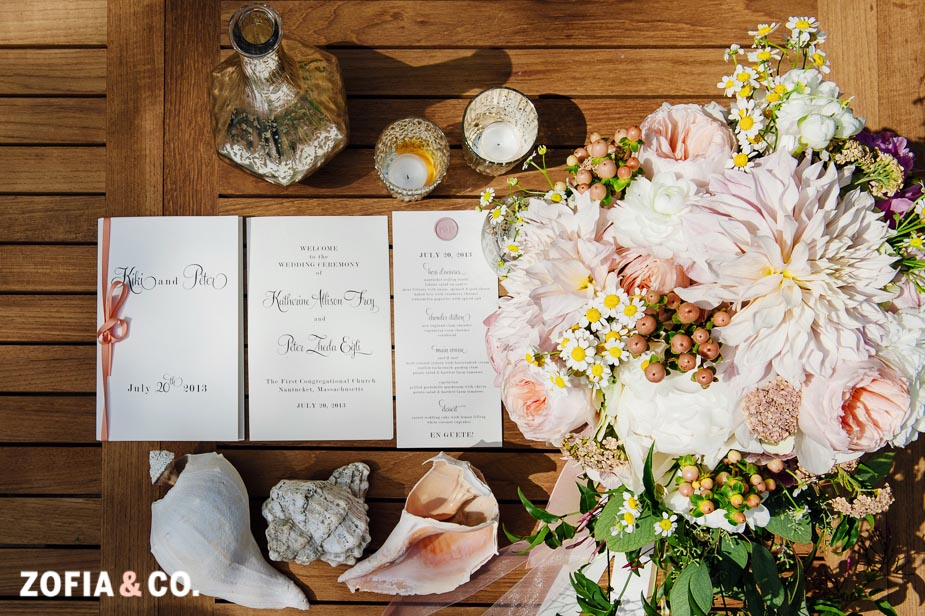Nantucket wedding at the First Congregational Church by Zofia & Co.