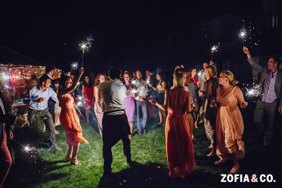 Nantucket sparkler send off by Zofia & Co. by Zofia & Co.