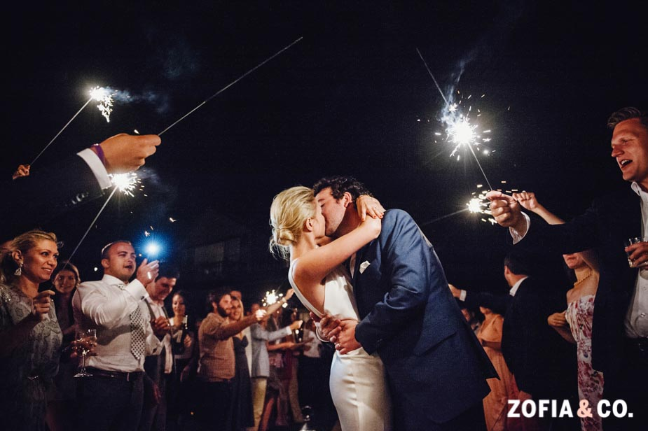 Nantucket sparkler send off by Zofia & Co.
