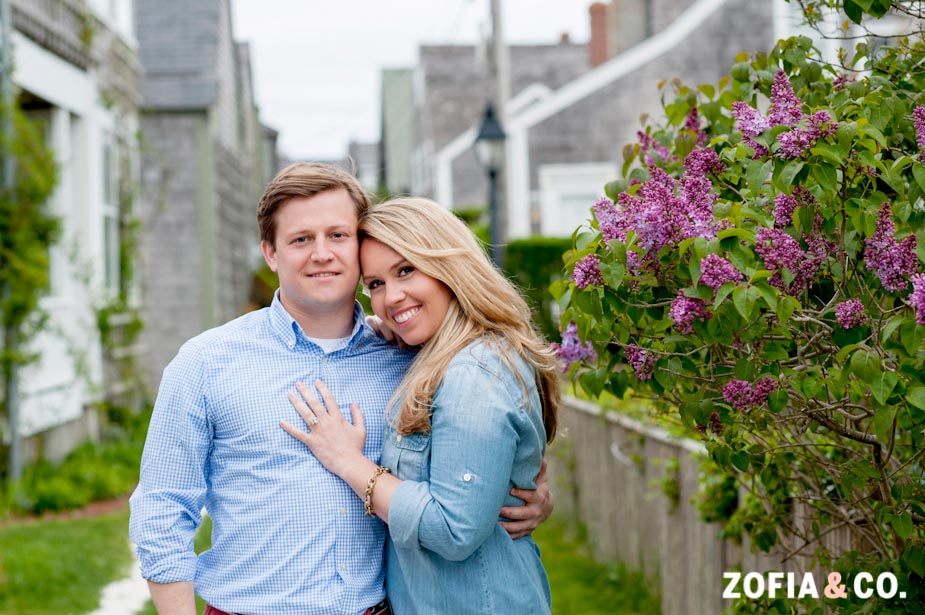 Sconset Nantucket Engagement Session
