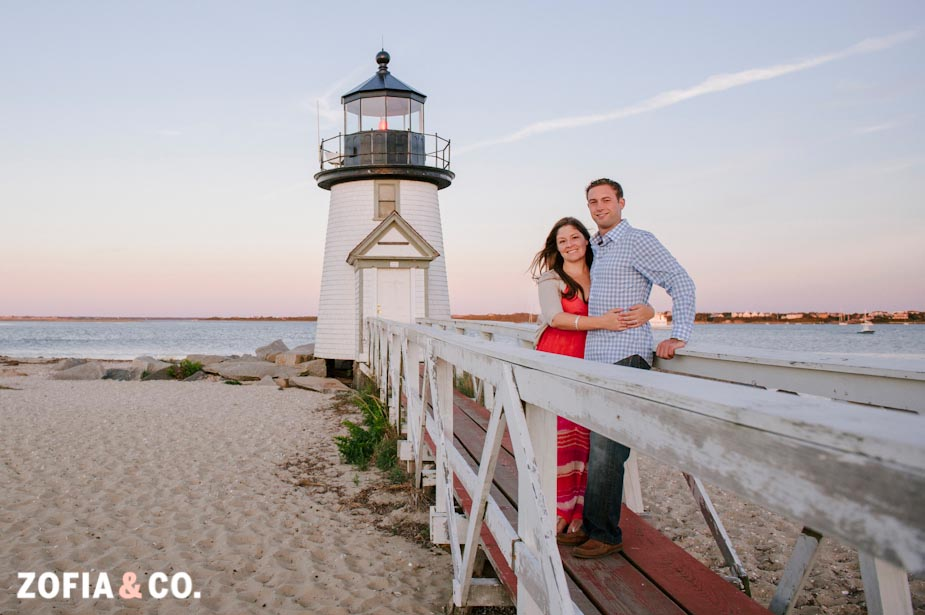 nantucket engagement session photography
