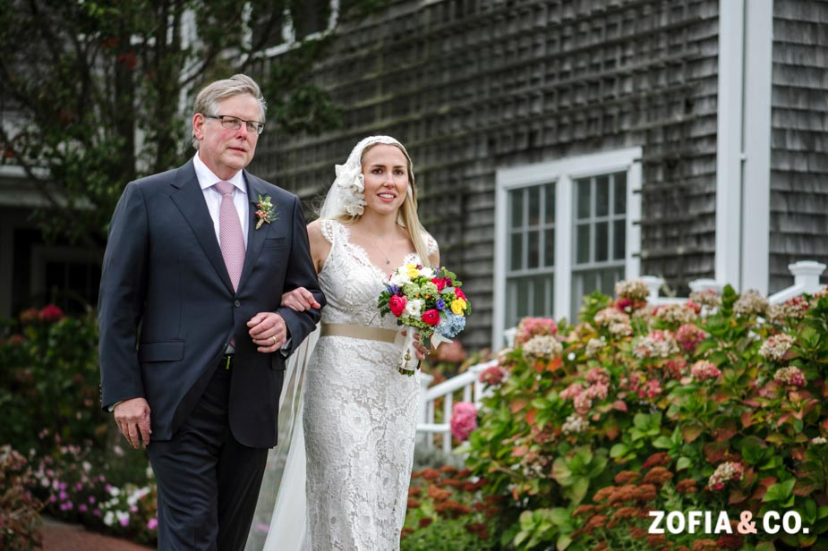 Nantucket wedding in October at the White Elephant by Zofia and Co